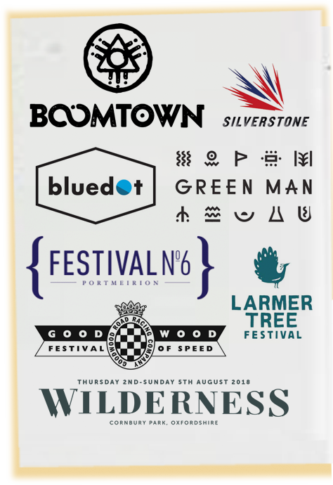 Barnaby Sykes will also be at the Boomtown Festival, Silverstone, Bluedot, Green Man Festival, Festival No 6 at Portmeirion, The Larmer Tree Festival, The Good Wood Festival of Speed and the Wilderness Festival at Cornbury Park in Oxfordshire